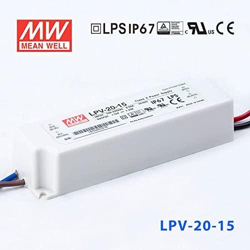 MeanWell LPV-20-15 Power Supply 20W 15V IP67