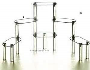 6 Tier Acrylic Display Stairs Riser - Size: 3