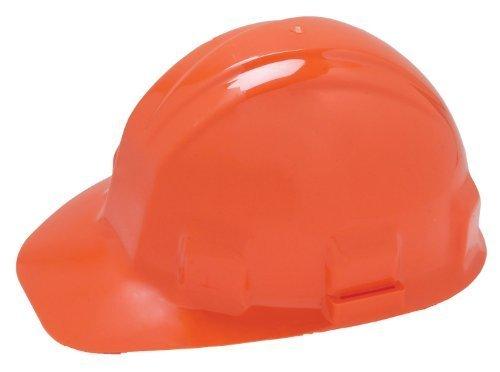 Hard Hat, FrtBrim, Slotted, 6Rtcht, Orange