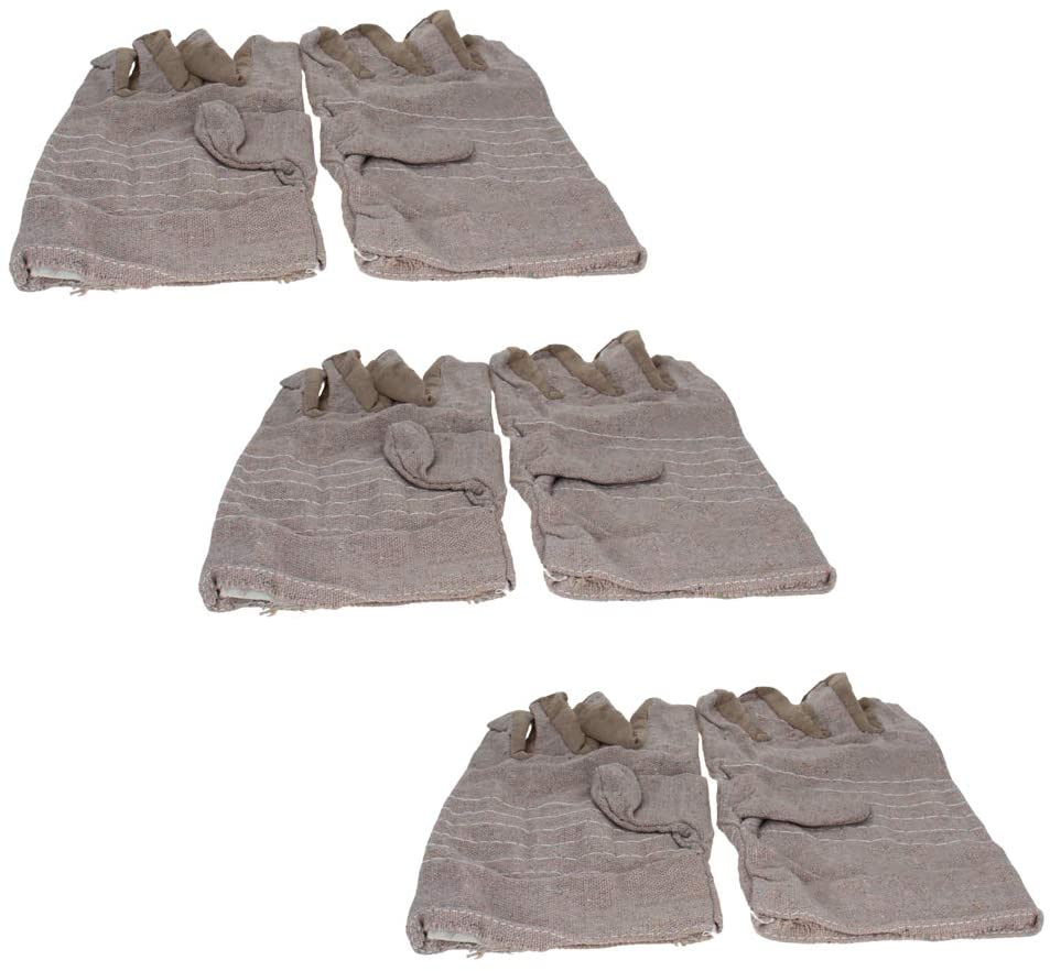 Utoolmart Men's Glove Canvas Work Gloves Gray with Heavy Washable Gautlet Cuff for Jewellers Silverware Moisturising Health Music Canvas Beauty Welding Works 3pair