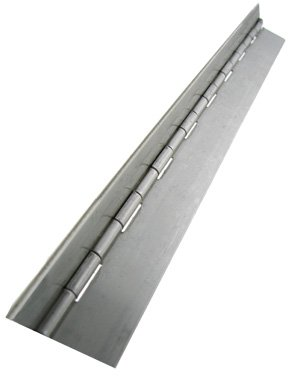 Stainless Steel 304 Continuous Hinge without Holes, Unfinished, 0.035
