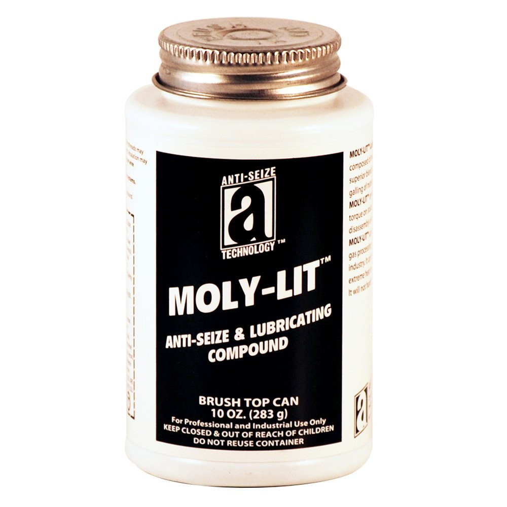 Moly-LIT 12012 Molydbenum Disulfide and Graphite Anti-Seize Compound, 10 oz, Black, Paste