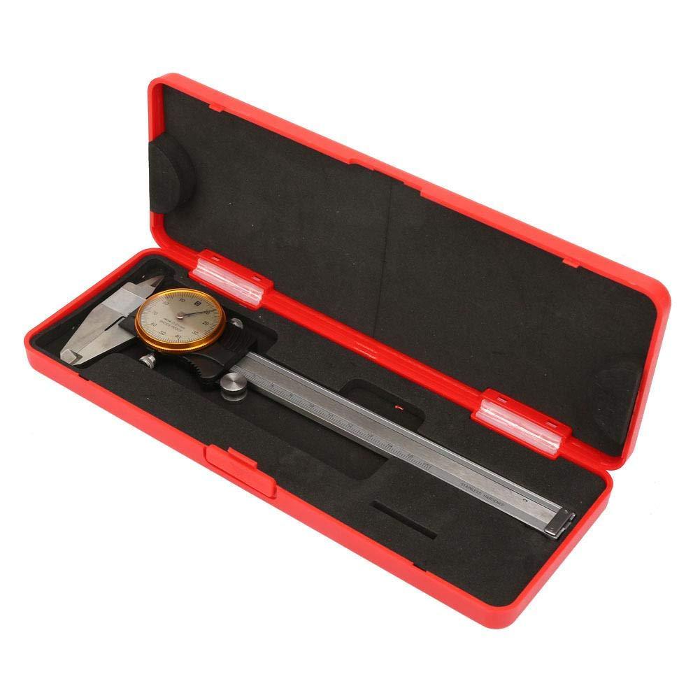 Vernier Caliper,Dual Direction Shock Proof Vernier Caliper,Ruler Gauge Measure Tool,in Fitted Box, Precision Dial Caliper, with Gauge 0~150mm 0.01mm