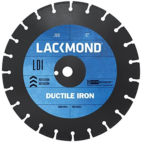 Lackmond LDI121251 12-Inch Segmented Diamond Blade for Cutting Ductile Iron Pipe