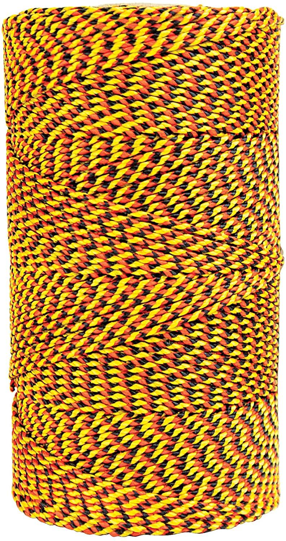 W. Rose RO689 Super Tough Professional Bonded Braided Nylon Mason's Line, 685-Feet, Black/Gold/Orange