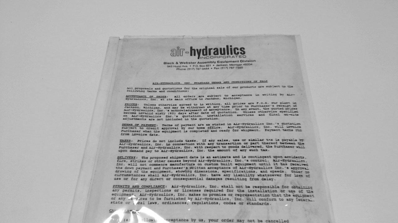 Air-Hydraulic C4-Cs 34A98 O-Ring Seal Kit W/Air Over Oil Press Manual C4-Cs 34A98