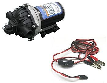 The ROP Shop New 4.0 GPM 60 psi 12 Volt Diaphragm ON Demand Water Pump w/Wire Power Harness