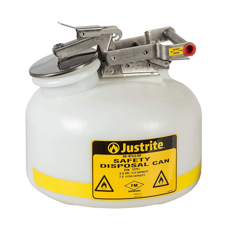 Justrite 12751 2 Gallon Capacity, 12.00