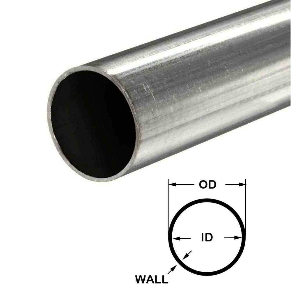316 Stainless Steel Round Tube, 1-1/2