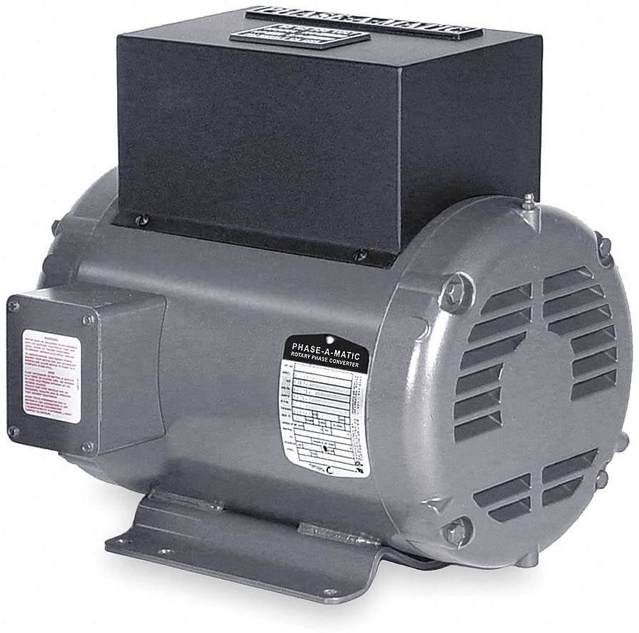 PHASE-A-MATIC Rotary Type Phase Converter - Model : RCP-5 Horsepower: 5