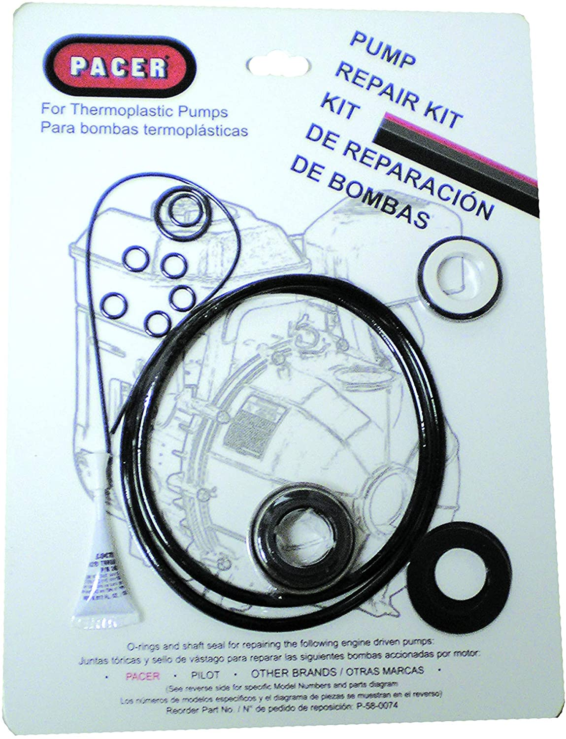 PACER Pumps, DIV. of ASM IND P-58-0074 Pump Seal Kit Without Rings