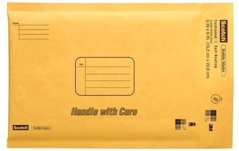 Wholesale CASE of 25 - 3M Scotch Cushioned Mailers-Bubble Mailer, 6