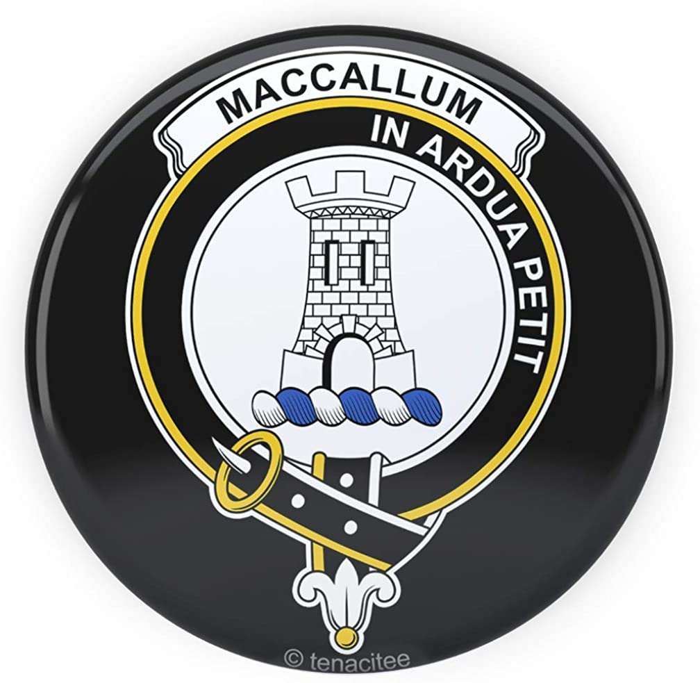 Tenacitee Scottish Clan Crest Badge Malcolm Pinback Button