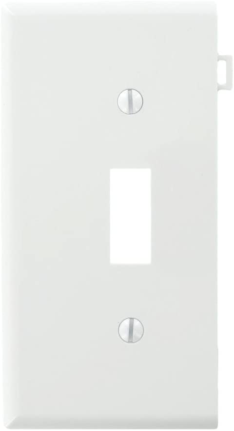 Leviton PSE1-W 905-0Pse1-00W Sectional Toggle Wall Plate, 1 Gang, White
