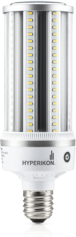 Hyperikon LED Corn Bulb Street Light, 54W (HIP HID Replacement), Outdoor Area Lighting E39 Large Mogul, 5000K, Waterproof