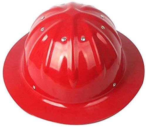 LIAN Hardhat with Adjustable Helmet, Construction Helmet Aluminum Hard hat, Orange (Color : Red)