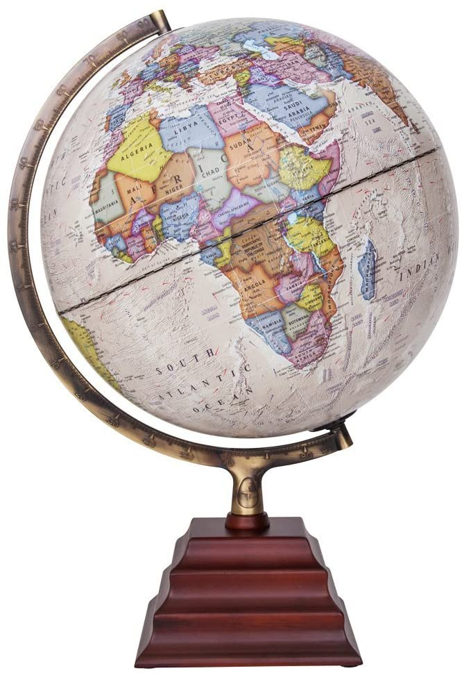 Waypoint Geographic Peninsula 12-inch Globe with Stand - Over 4,000 UP-TO-DATE Points of Interest - Pagoda Style Stand & Politically Styled World Globe for Home, Office & Classroom