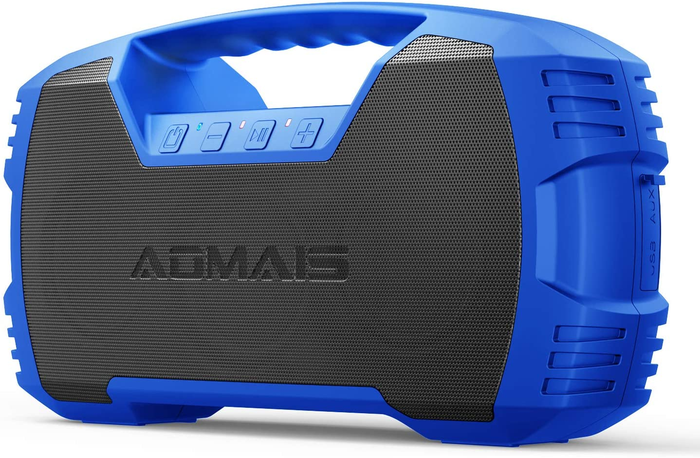 AOMAIS GO Bluetooth Speakers,Waterproof Portable Indoor/Outdoor 40W Wireless Stereo Pairing Booming Bass Speaker,40-Hour Playtime with 10000mAh Power Bank,Durable for Home Party,Camping(Blue)