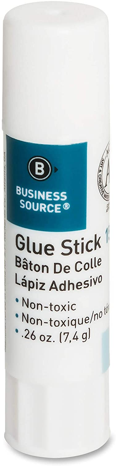 Business Source Glue Stick, Pack of 18