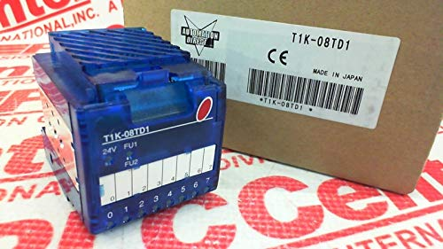 PLC DIRECT T1K-08TD1 Terminator Discrete Output Module, 8-Point, 2 Common(S), 1A/Point. Requires T1K-08B OR T1K-08B-1 Terminal Base, 4 Point(S) PER Common, Sinking, 12-24 VDC