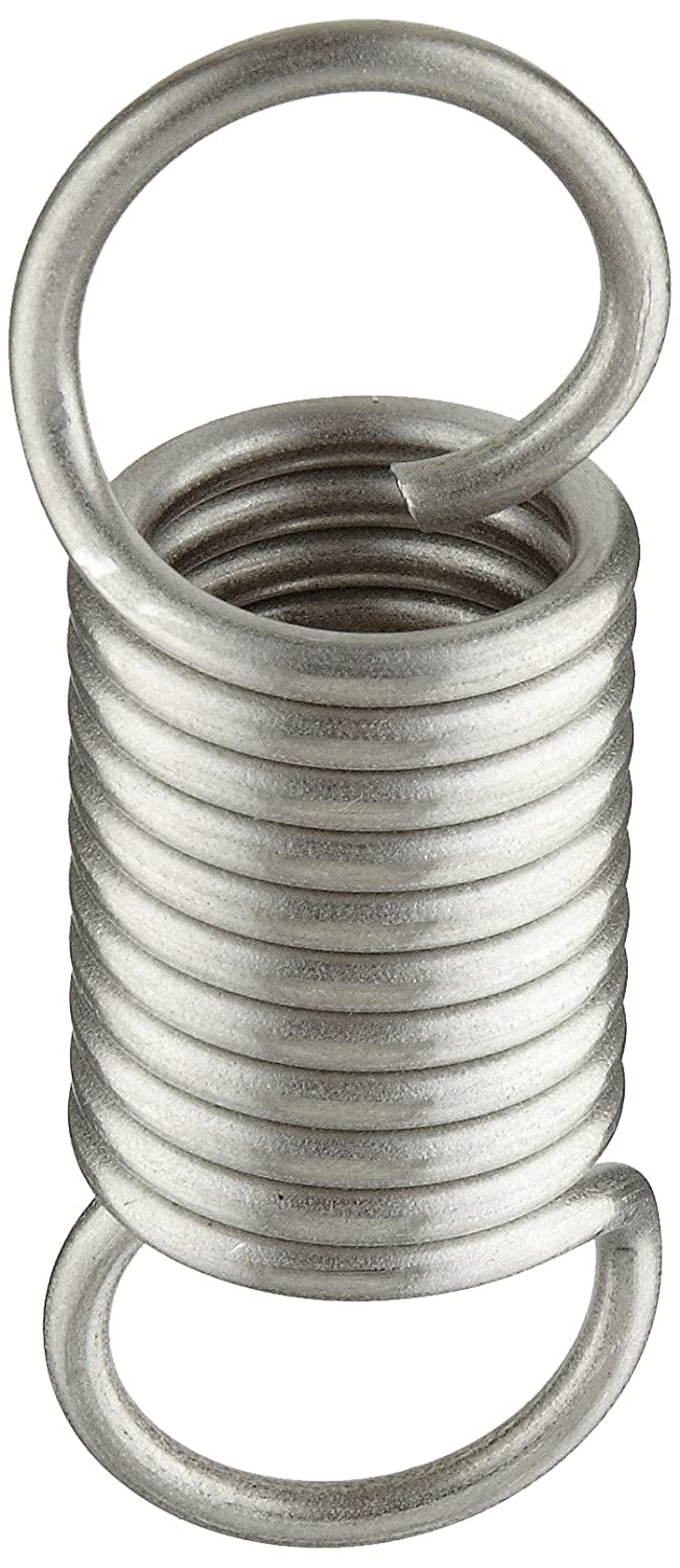 Extension Spring, 302 Stainless Steel, Inch, 1