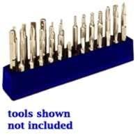 Mechanics Time Saver MTS580 1/4 in. Magnetic Neon Blue 37 Piece Bit Holder