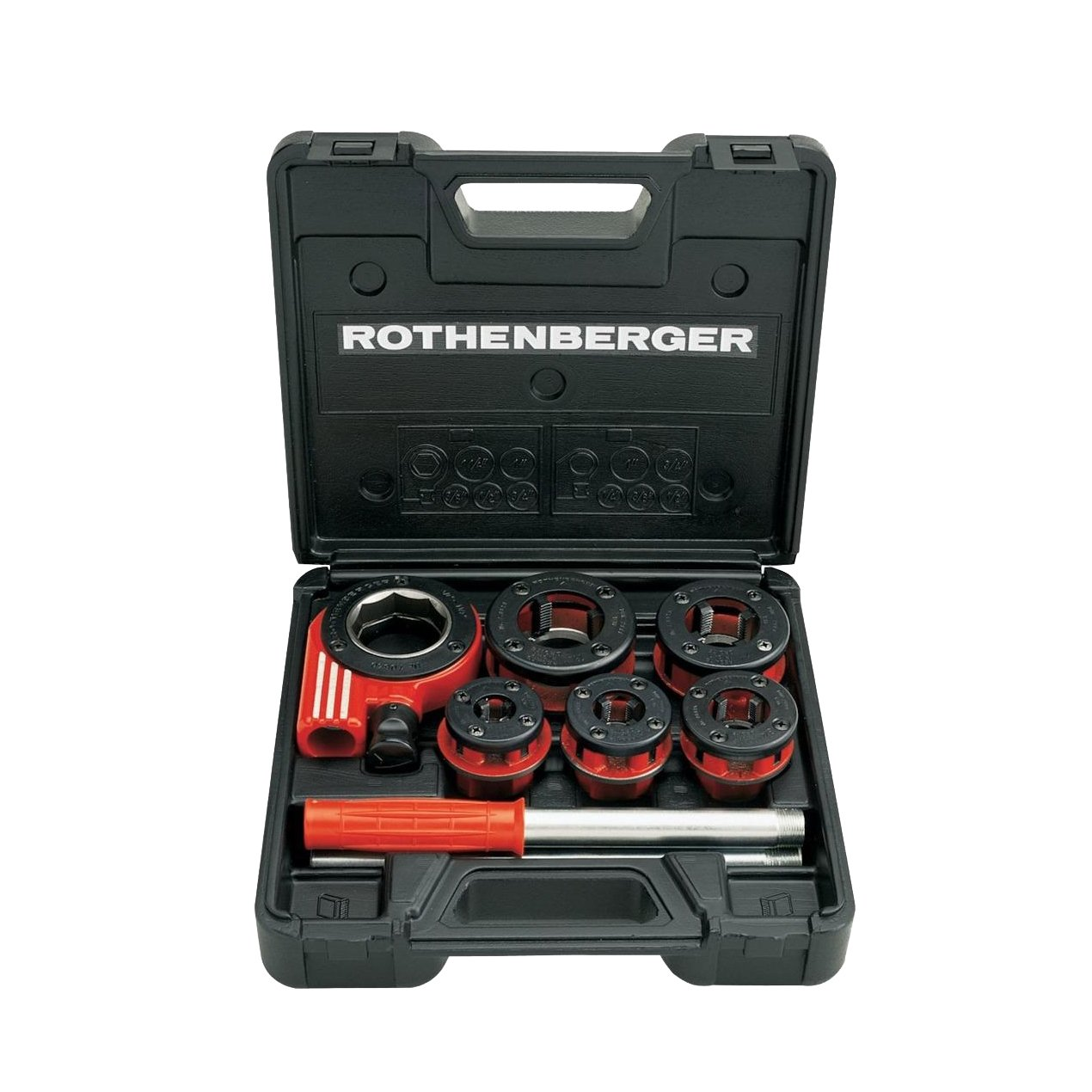 Rothenberger 070790X Super Cut Threading Dies Set including Case, BSPT R, 3/8-1.1/4