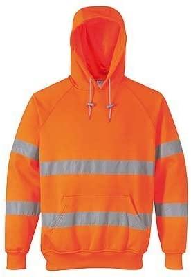 Portwest UB304ORRXXL Regular Fit Hi-Vis Hooded Sweatshirt, XX-Large, Orange