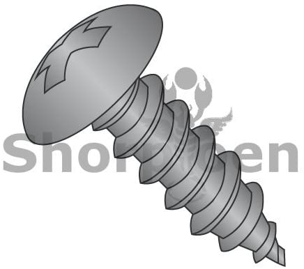 8-15X2 1/2 Phillips Full Contour Truss Self Tapping Screw Type A Fully Threaded Black Oxide - Box Quantity 1250 by Shorpioen BC-0840APTB
