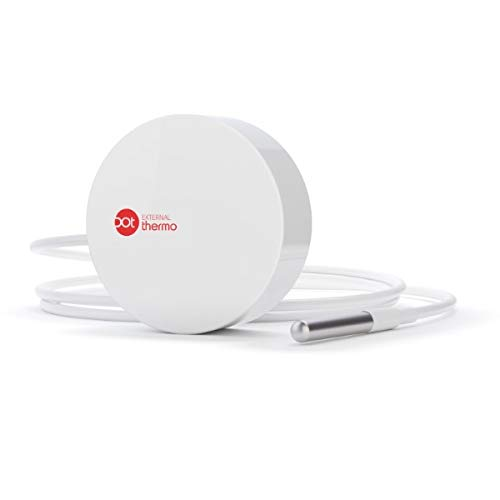 Dot Thermo External - Thermometer | Temperature Sensor | Temperature Data Logger | Direct WiFi Connection with Text Message & Email Alarms | Compatible with iPhone + Android + PC