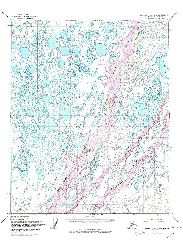 Map Print - Beechey Point A-3, Alaska (1955), 1:63360 Scale - 24