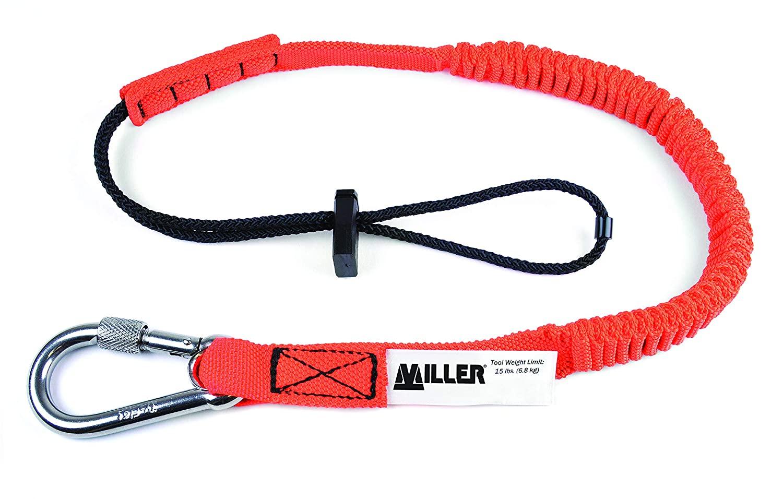 Honeywell MBUNLAN3248CAR Miller Tool Lanyard, Capacity, Volume, Elastic Bungee Fabric, Standard, Red/Black
