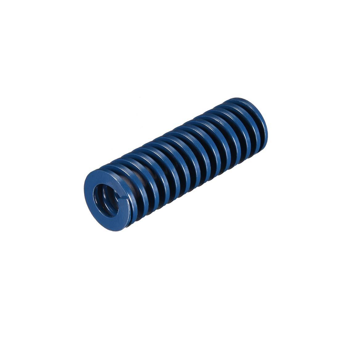 uxcell 18mm OD 55mm Long Spiral Stamping Light Load Compression Mould Die Spring Blue 1Pcs