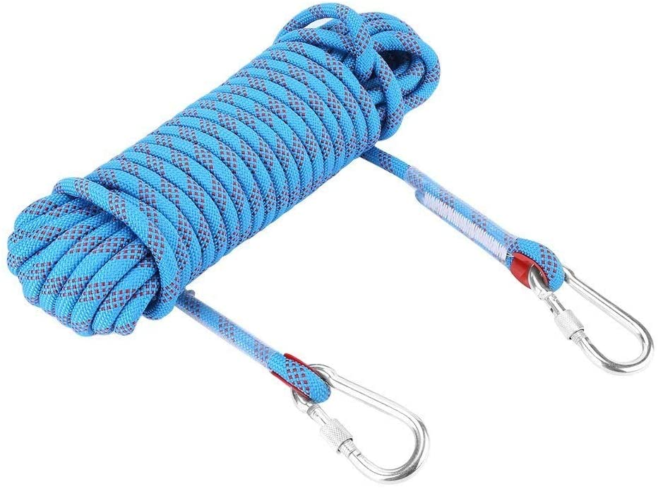 WANGJUNAI Climbing Rope Wear-Resistant High Altitude Outdoor Climbing Rope Nylon Rope Household Rope Escape Rope Lifeline Fire Rope (Size : 30m)