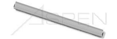 (8 pcs) 1/4-28 X 3, Threaded Rods, Full Thread, AISI 316 Stainless Steel