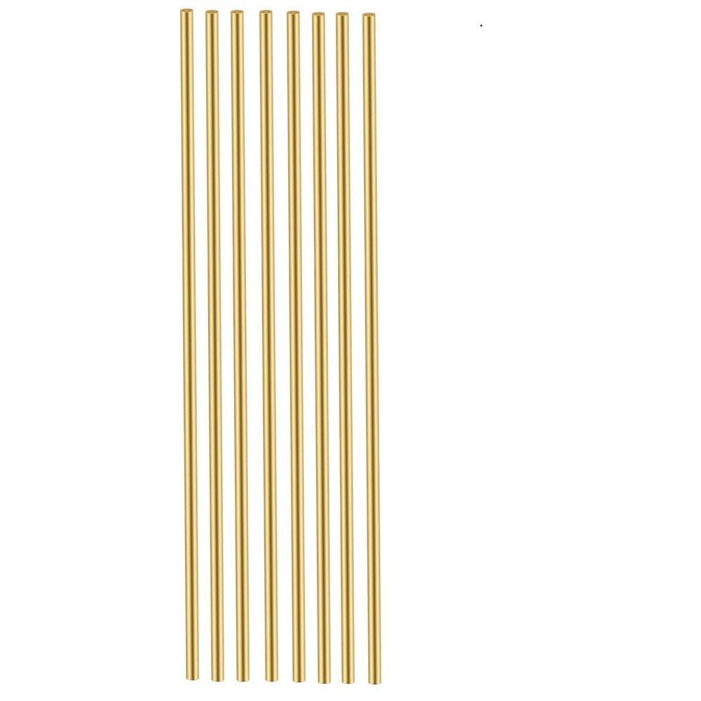 12 Pcs 2 mm /5/64 Brass Rods Brass Round Stock Lathe Bar Stock Kit Round Brass Stock Solid Brass Rods 5/64 Inch in Diameter 12 Inch in Length,C27400