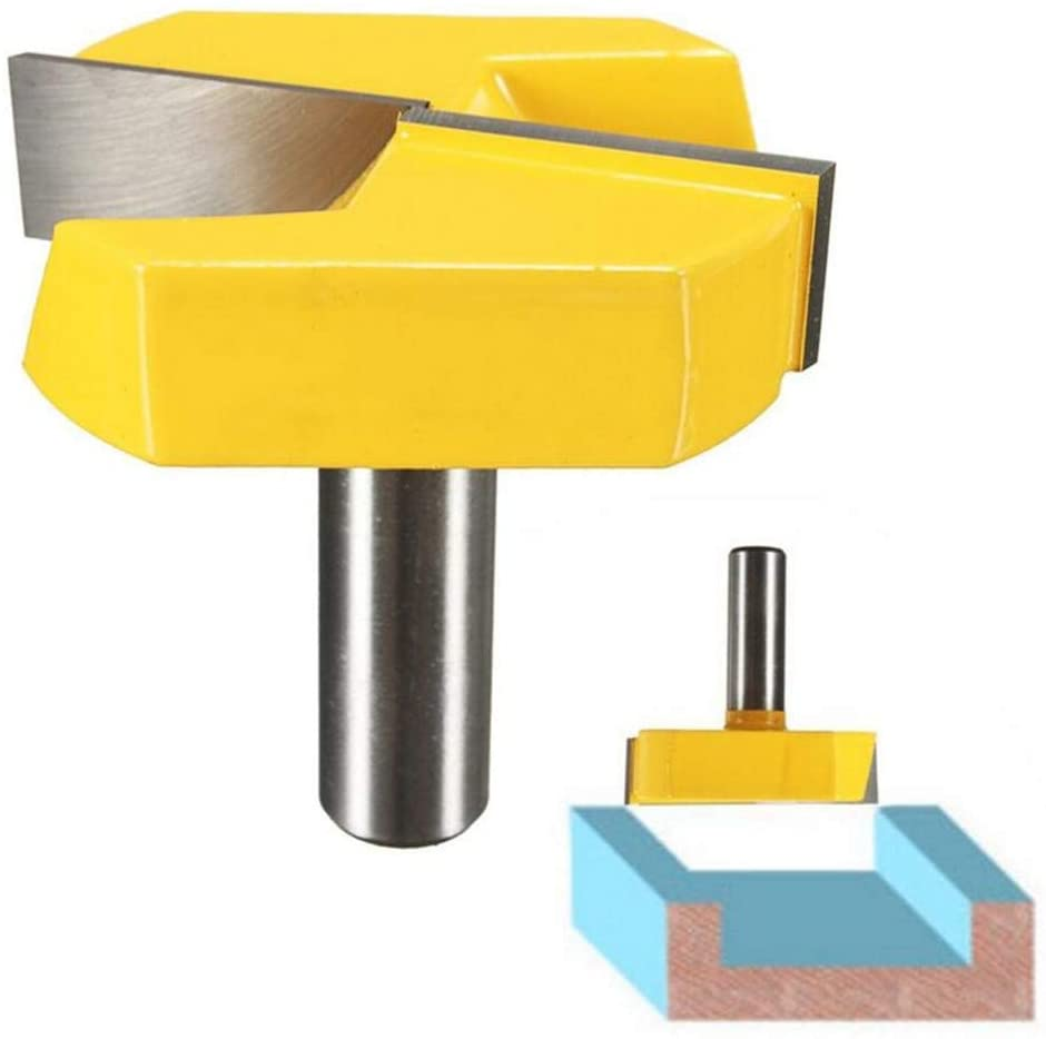 1/2 Inch Shank Drill Bits Router Bit, 2-1/4 Inch Diameter Bottom Cleaning Router Bit Woodworking Milling Cutter