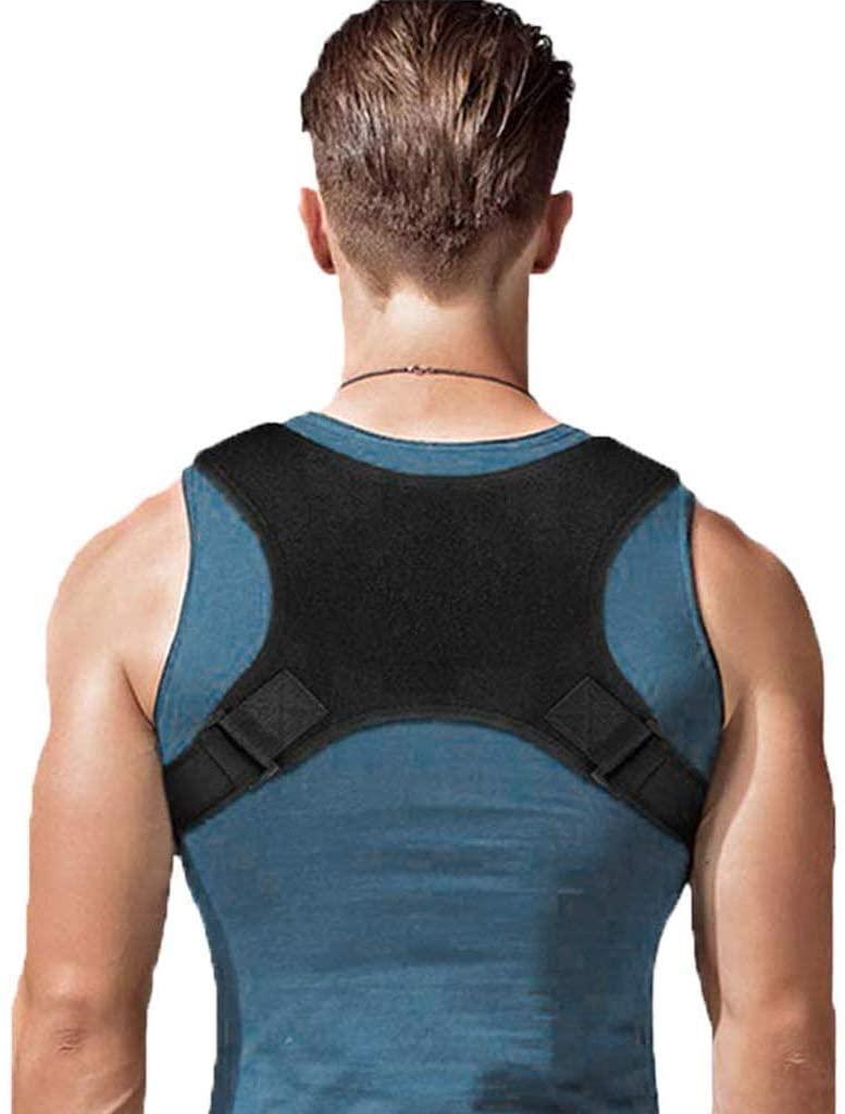 Vech Posture Corrector for Adults Women & Men Humpback Correction Belt Comfortable Upper Back Brace Adjustable Strap for Shoulder & Back Pain Relief