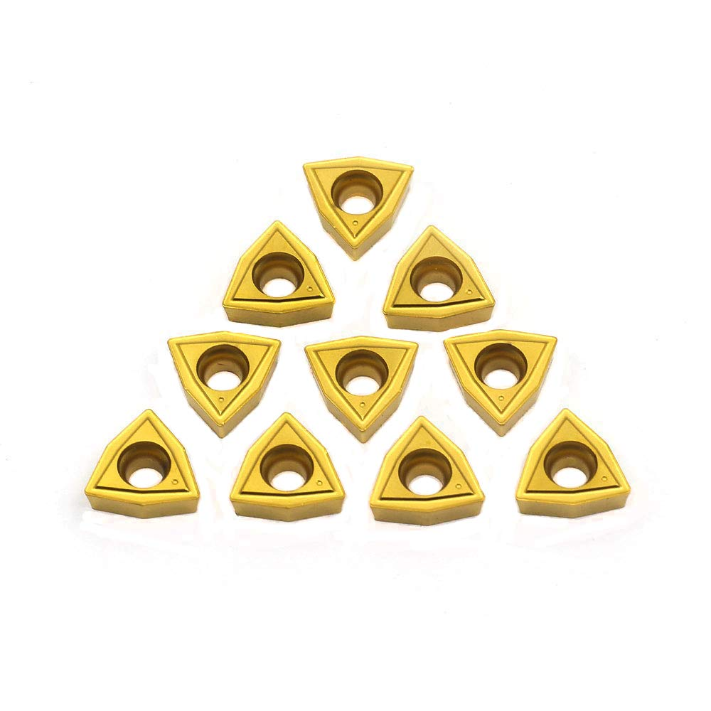 OSCARBIDE Carbide Turning Inserts WCMT050304(WCMT2.52),WCMT Inserts CNC Lathe Insert for Indexable Lathe Turning Tool Holder Insert Replacement,10 pcs/Pack
