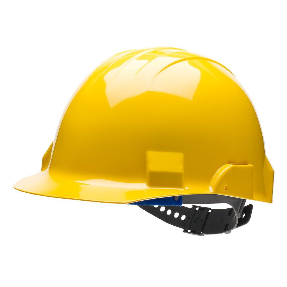 Bullard VTYLP Type II Vector Helmet Hard Hat, 4 Point Pin Lock Suspension, Yellow, One Size