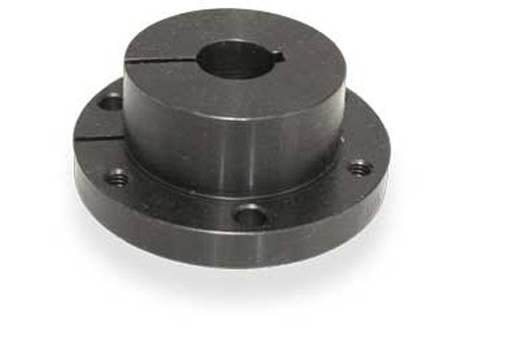 Ametric® R1.2-7/8 Split Taper Bushing, 2-7/8 Inch Bore, 2.875 Inch Over All Depth (L), 5.375 Inch Flange Diameter (H)>P> 4.625 Inch Bolt Circle (V), 0.75 Inch Width of Keyway (W), 3 X3/8x1 3/4 Inch Cap screw, 348 Torque Lbs, (1-014)