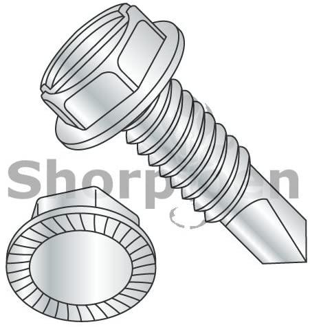 5/16-18X1 A/F.428-.437 HD Hgt.172-.190 Slot Indhxwash Serrate Self Drill Full Thread Zinc - Box Quantity 1000 by Shorpioen BC-311607KSWSMS