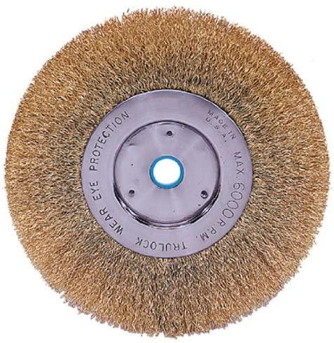 Trulock Narrow-Face Crimped Wire Wheels - tln-6 .0118 brass 5/8-1/2 6in dia nar
