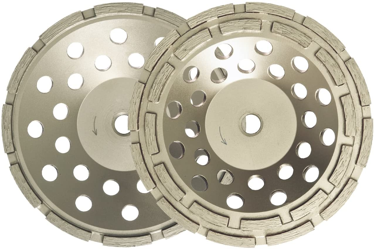 Dixie Diamond Manufacturing ECG17THRD Row Thread Cup Wheel Value Grade for Dry/Wet Cutting, 7-Inch X 5/8-Inch