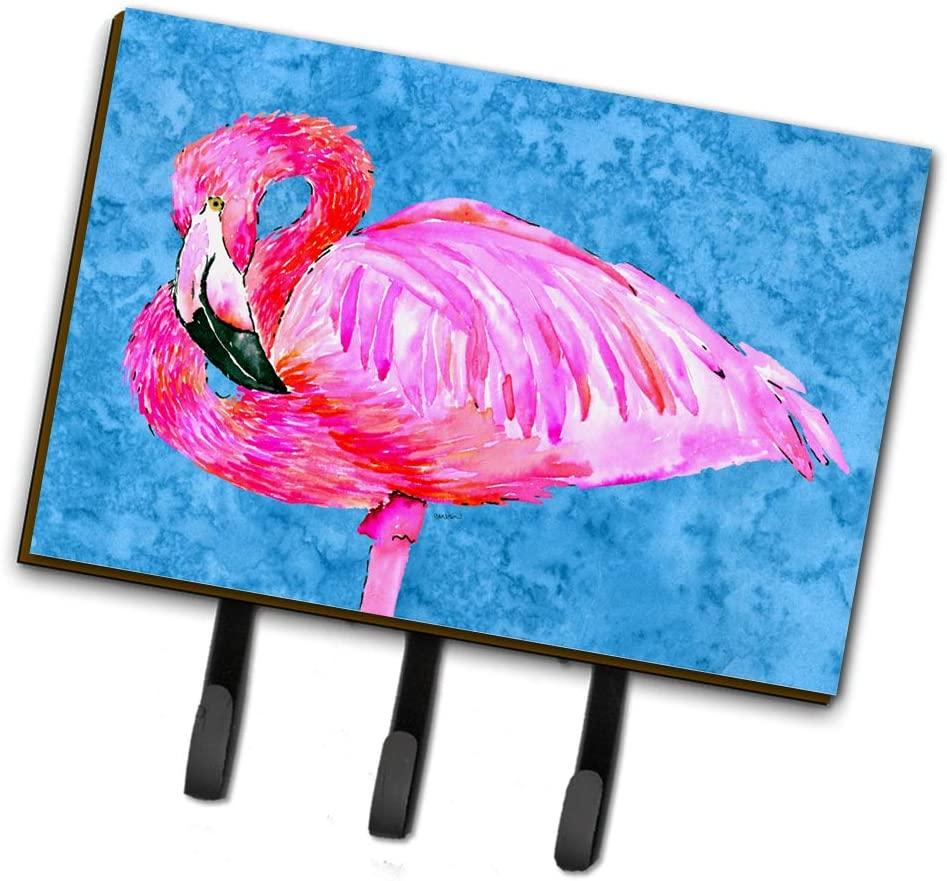 Caroline's Treasures 8686TH68 Flamingo Leash or Key Holder, Triple, Multicolor
