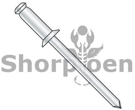 3/16X.06-.25 Countersunk Steel Rivet with Steel Mandrel - Box Quantity 5000 by Shorpioen BC-SCS64