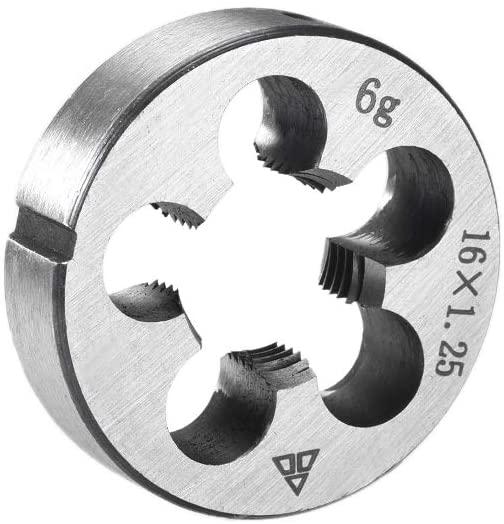 uxcell M16 X 1.25 Metric Round Die Machine Thread Die, 38mm OD Round Threading Die Alloy Steel
