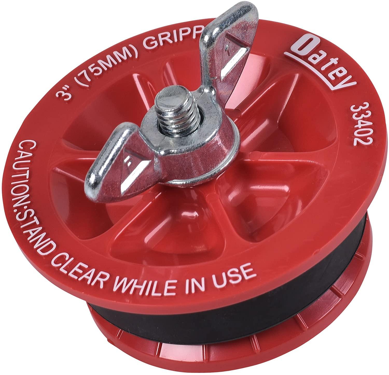 Oatey 33402 Mechanical Test Plug, 3 In, 5 Psi Back, Plastic, 110 Deg F, 3-Inch, Red