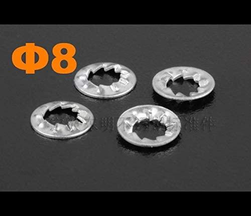 Ochoos 500pcs/lot M8 Stainless Steel Internal Serrated Lock Washer DIN6798J SS304