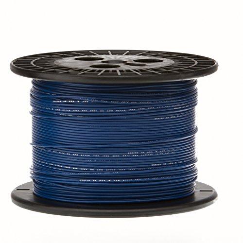 Remington Industries 24UL1007STRBLU1000 24 AWG Gauge Stranded Hook Up Wire, 1000 feet Length, Blue, 0.0201